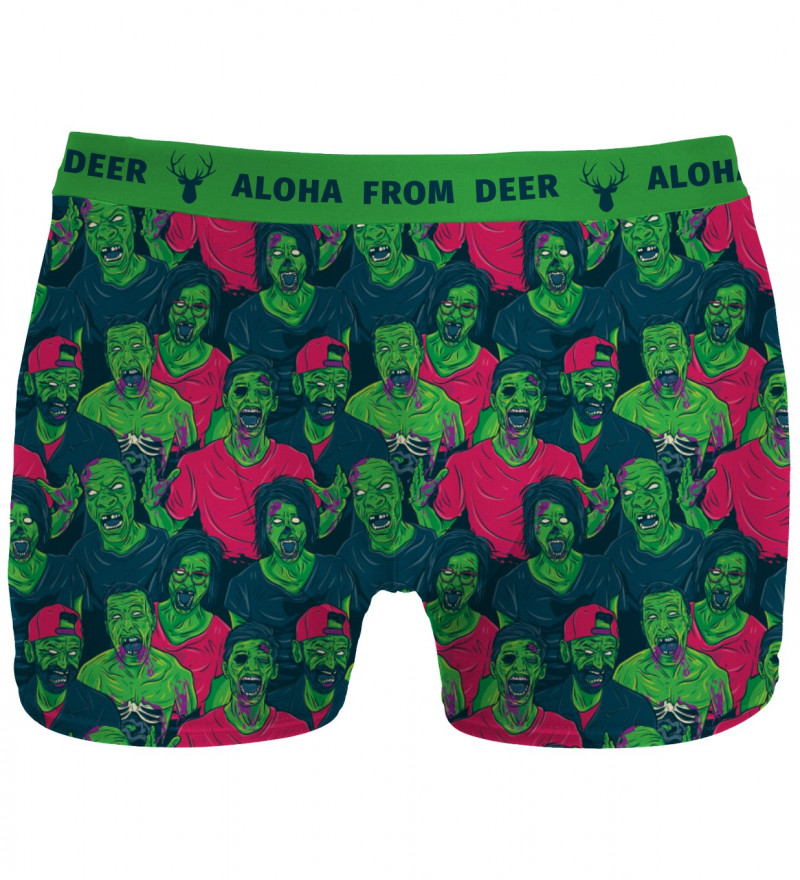 undewear with green zombie motive