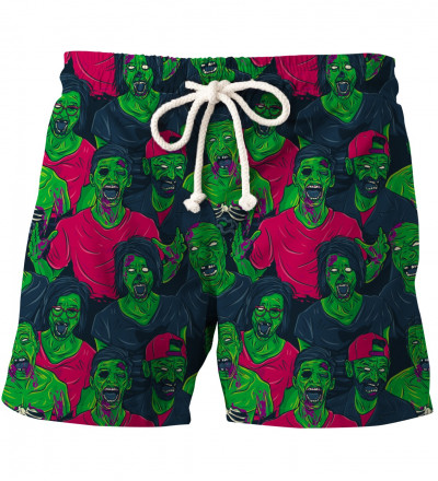 shorts with green zombiez motive