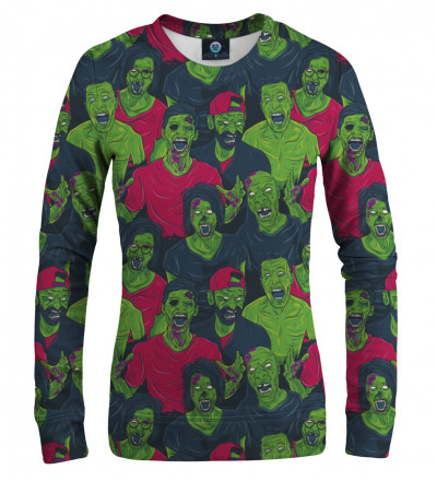 damska bluza z motywem zielonych zombie