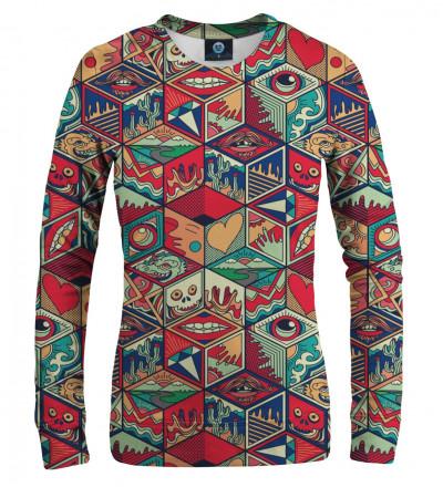 women sweatshirt with pandora's box motive