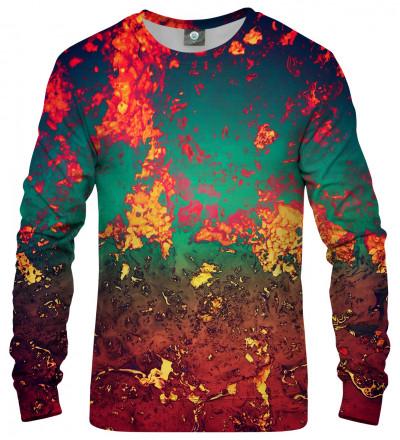 sweatshirt with rust motive