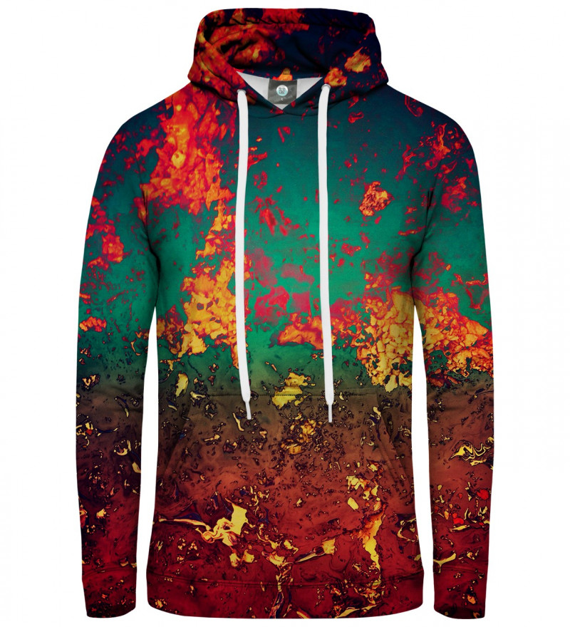 women hoodie with rust motive