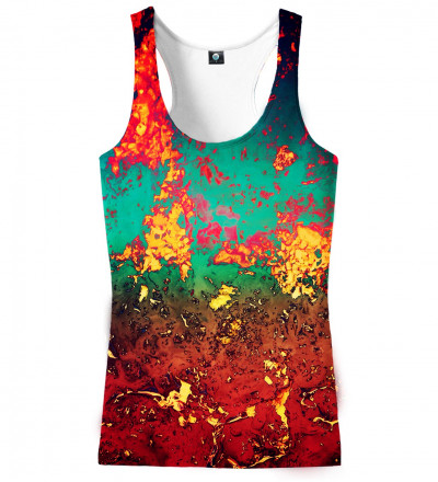 tank top with rust motive