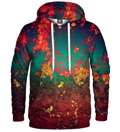 hoodie with rust motive