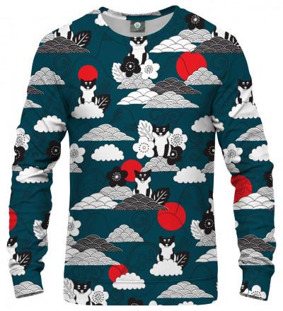 sweatshirt with shiba inu motive