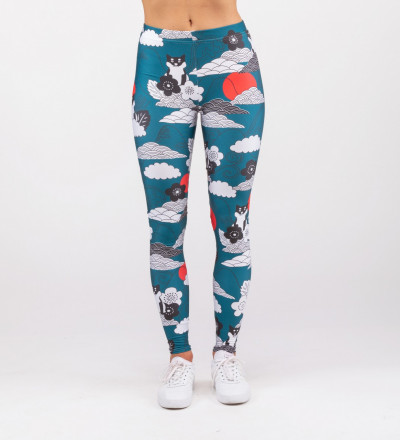 leggings with shiba inu motive