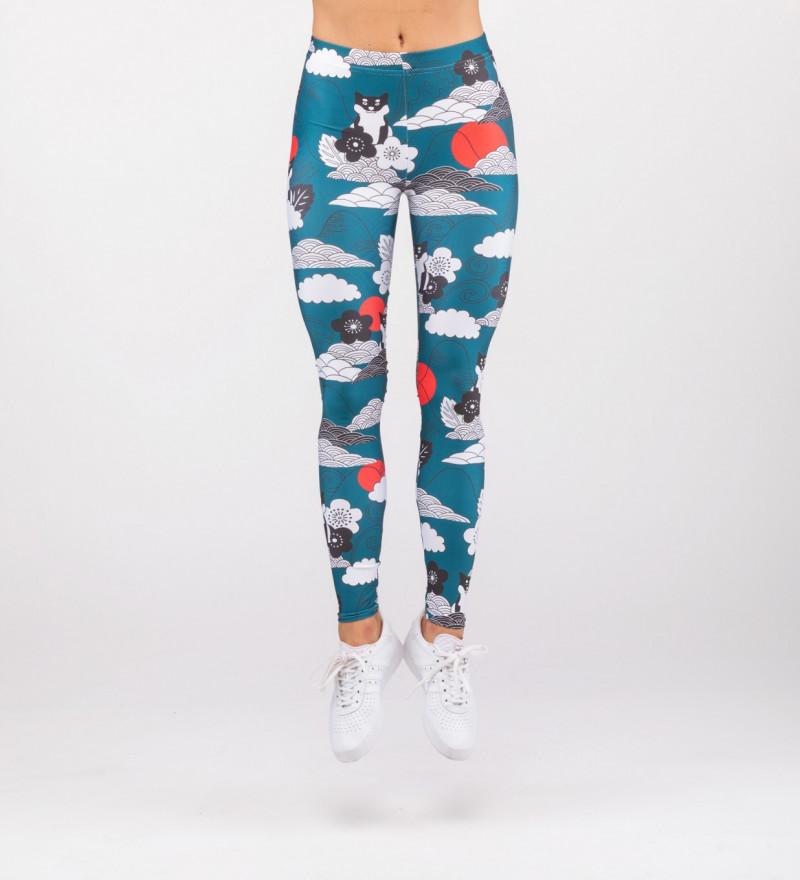 leggings with shiba inu motive