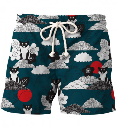 shorts with shiba inu motive