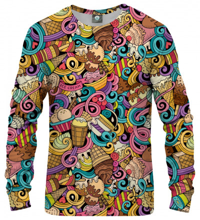 sweatshirt with ice cream motive