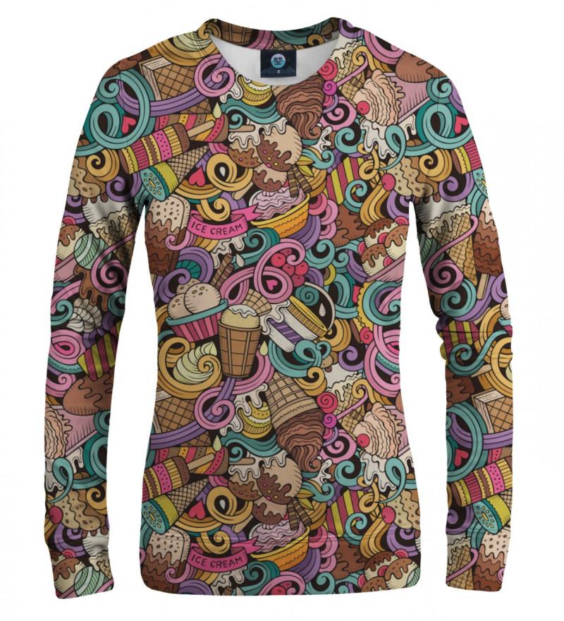 women sweatshirt with ice cream motive