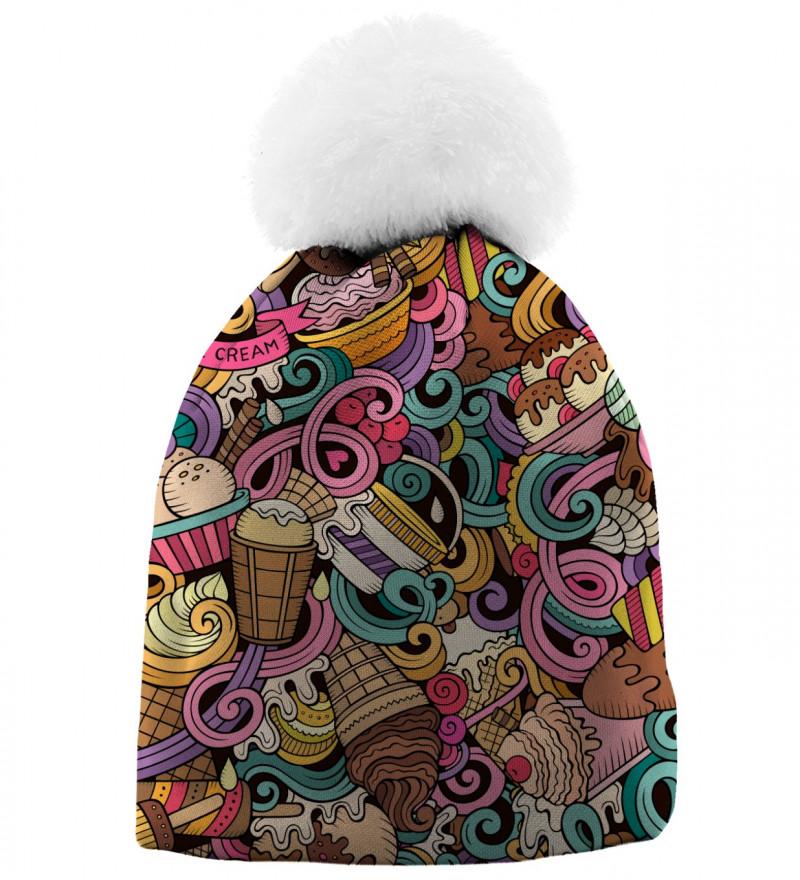 czapka z motywem lodów