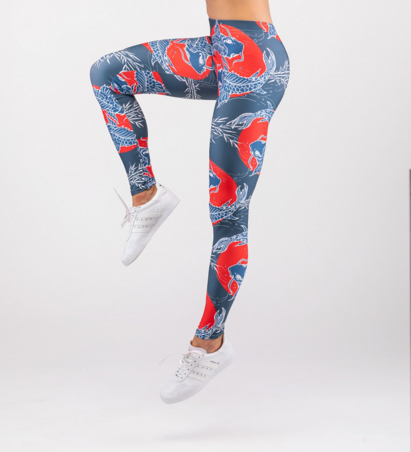 leggings with fish motive