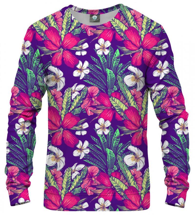 sweatshirt with flowers motive