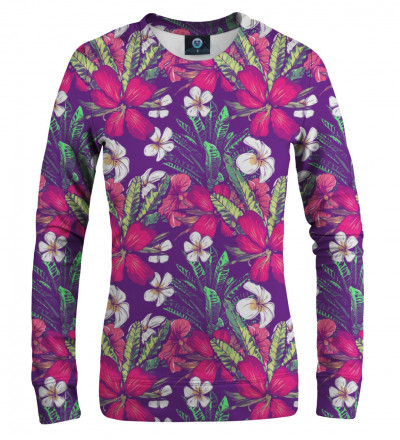 women sweatshirt with flowers motive