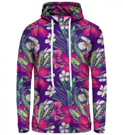 women hoodie with flower motive