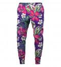 spodnie z motywem kwiatów