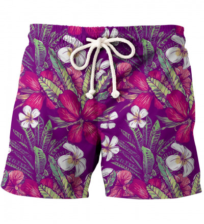 shorts with flowers motive