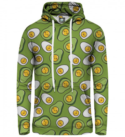 women hoodie with eggs and avocado motive