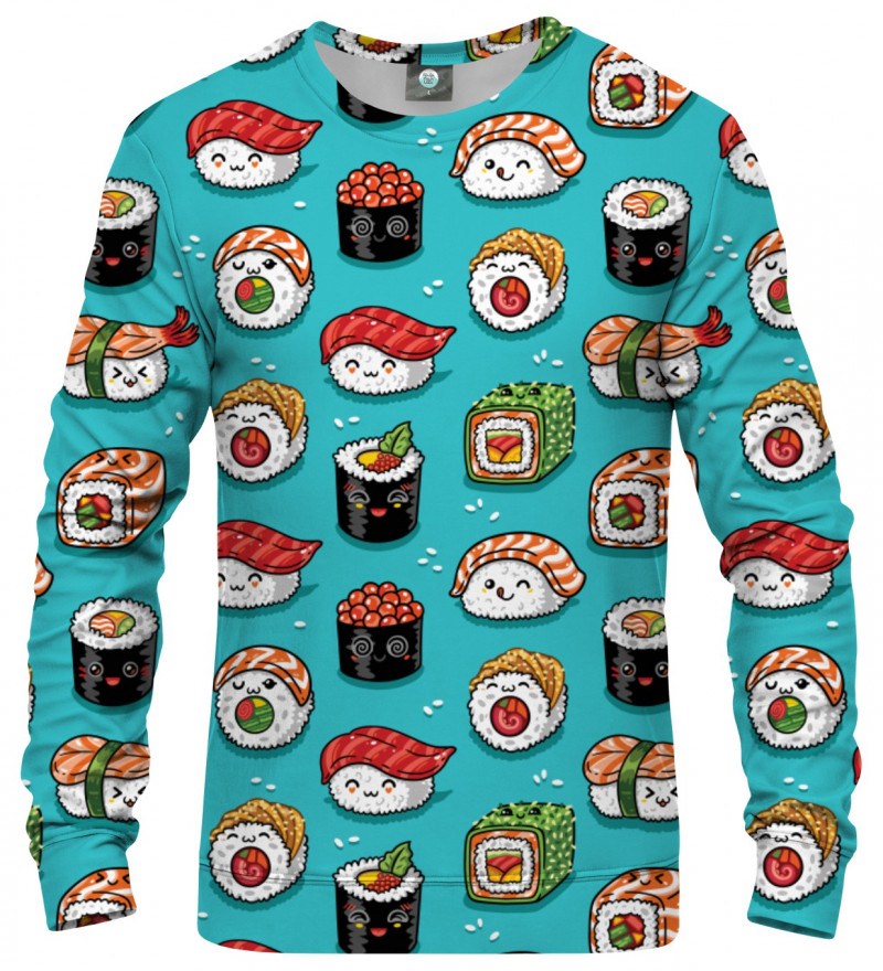 sweatshirt with sushi motive