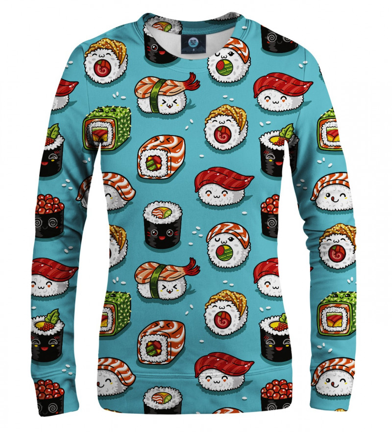 women sweatshirt with sushi motive
