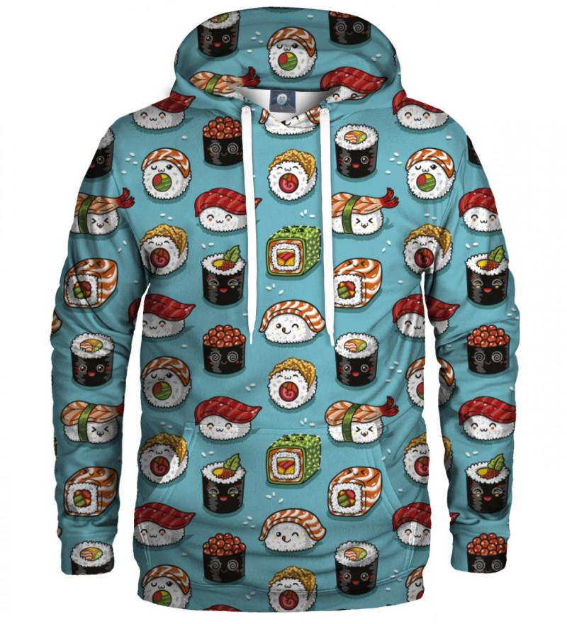 bluza z kapturem z motywem sushi