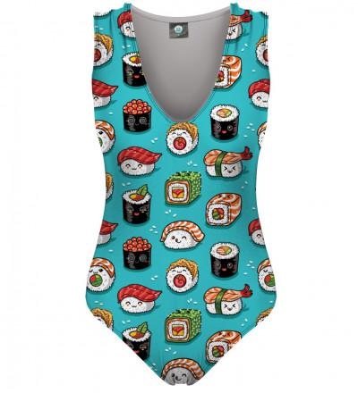swimsuit with sushi motive