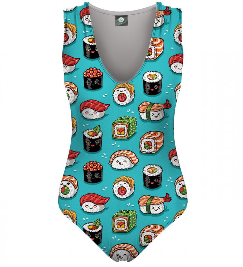 strój kąpielowy z motywem sushi
