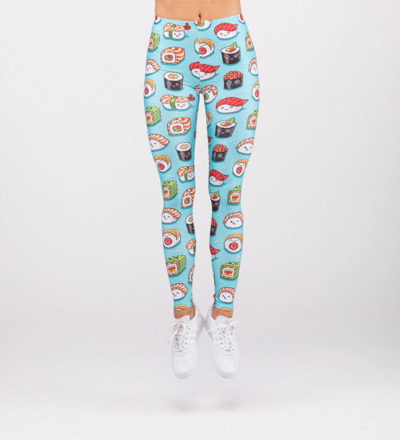 leggings with sushi motive