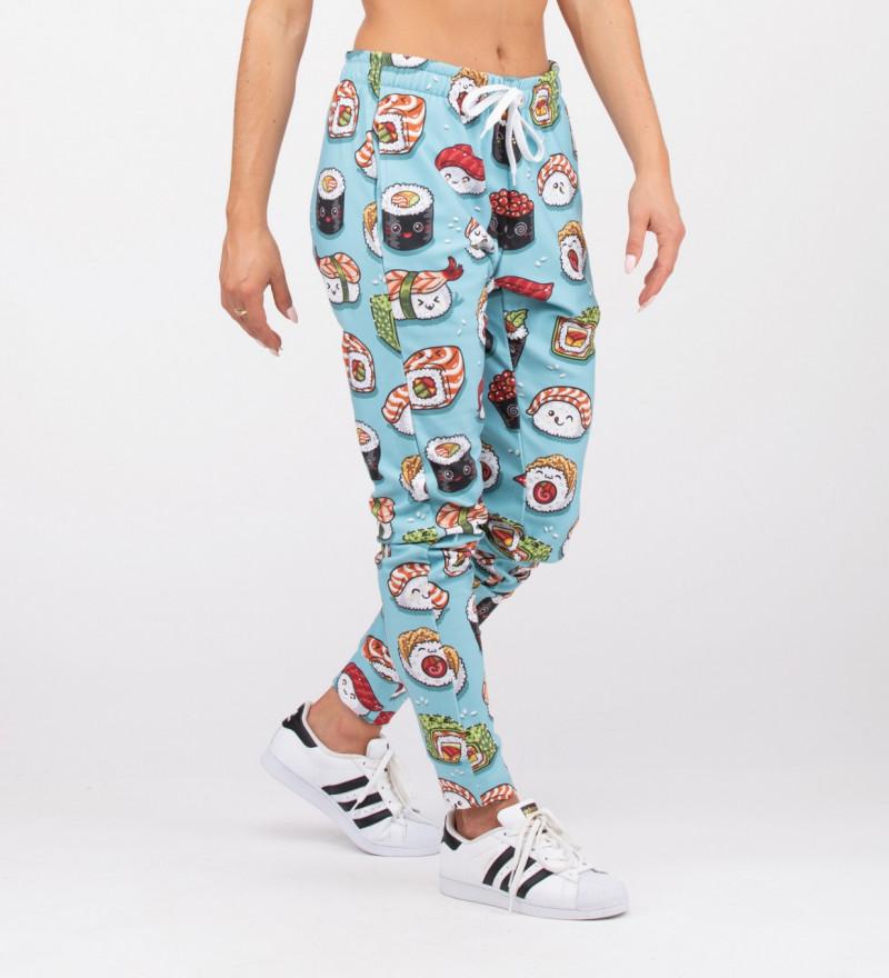 spodnie z motywem sushi