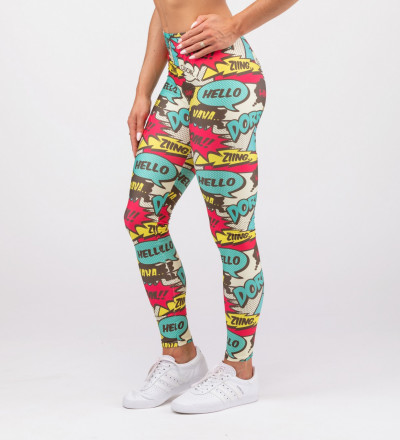 leggings with comics motive