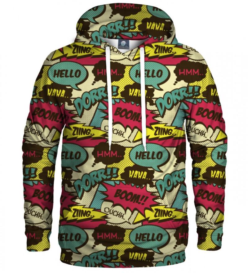 hoodie with comics motive