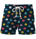 shorts with spae invaders motive