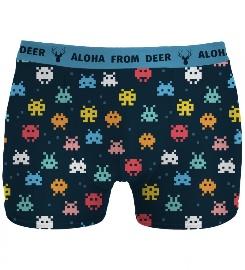 underwear with space invaders motive