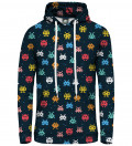 Bluza damska z kapturem Space Invaders