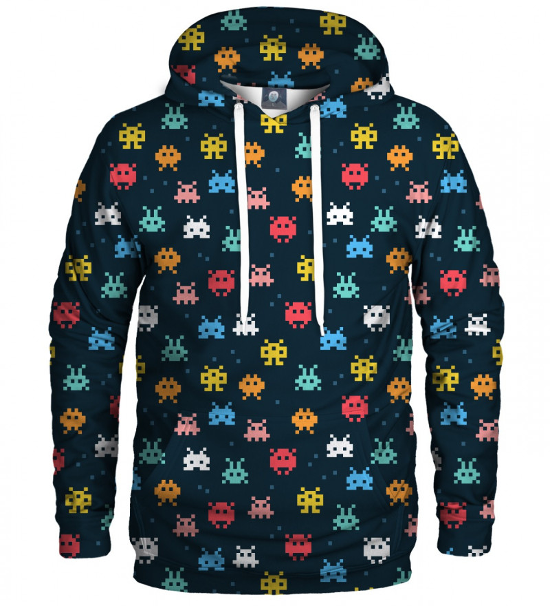 hoodie with space invaders motive