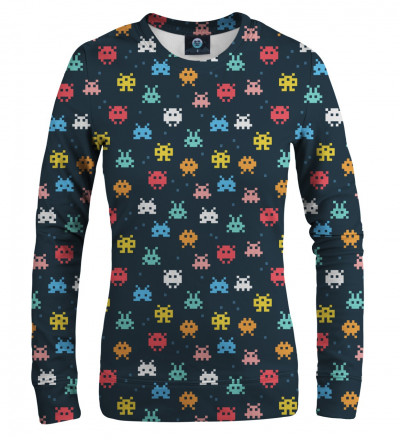 sweatshirt with space invaders motive
