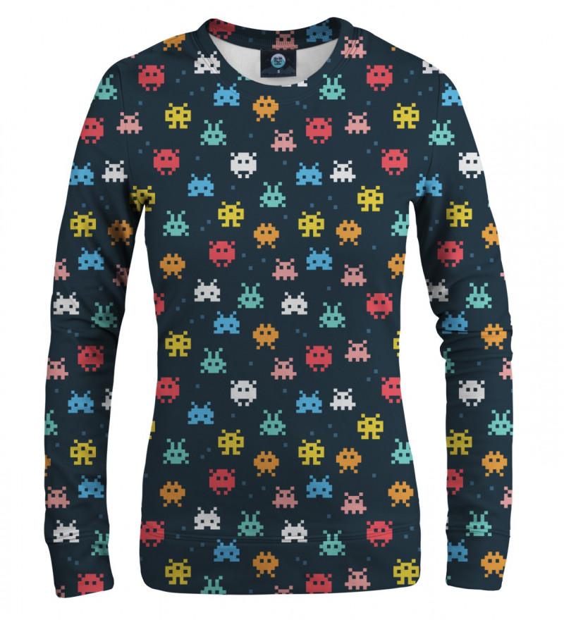bluza z motywem kosmicznych najeźdźców