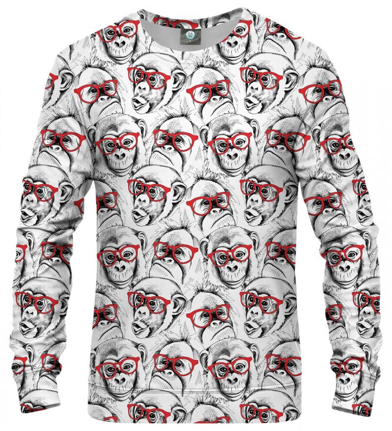 sweatshirt with monkeys motive