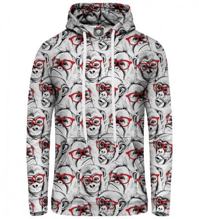 women hoodie with monkeys motive