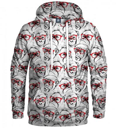 hoodie with monkeys motive