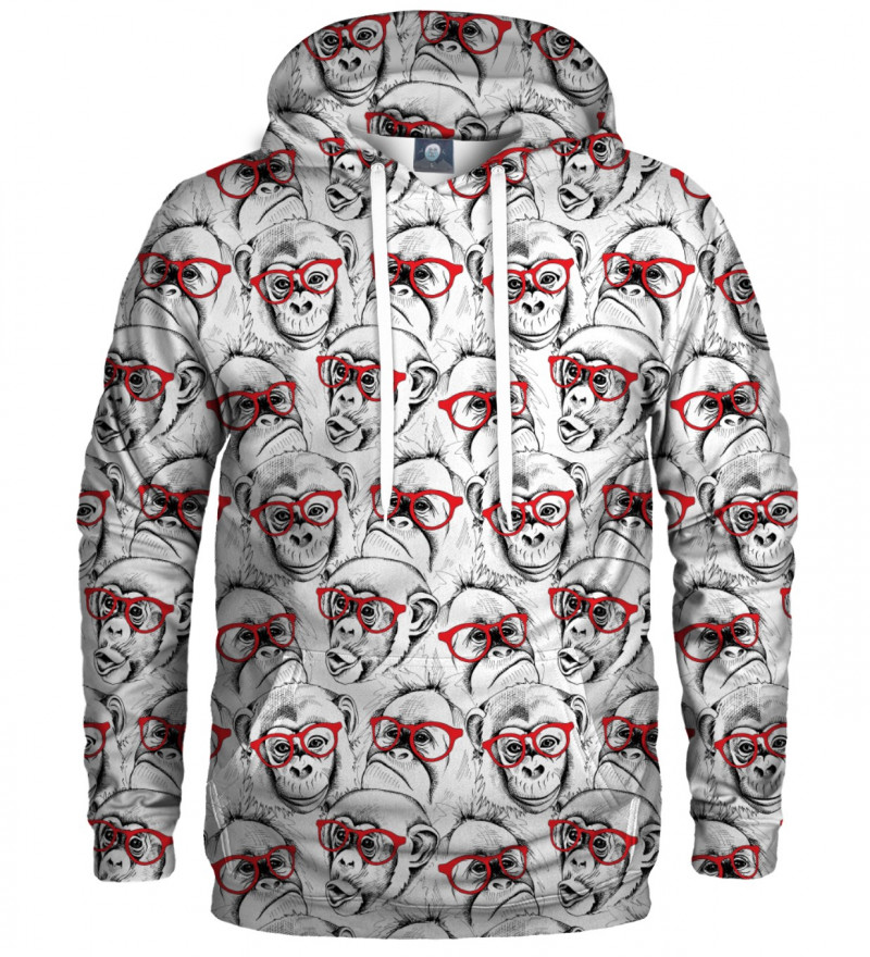 hoodie with monkeys motive