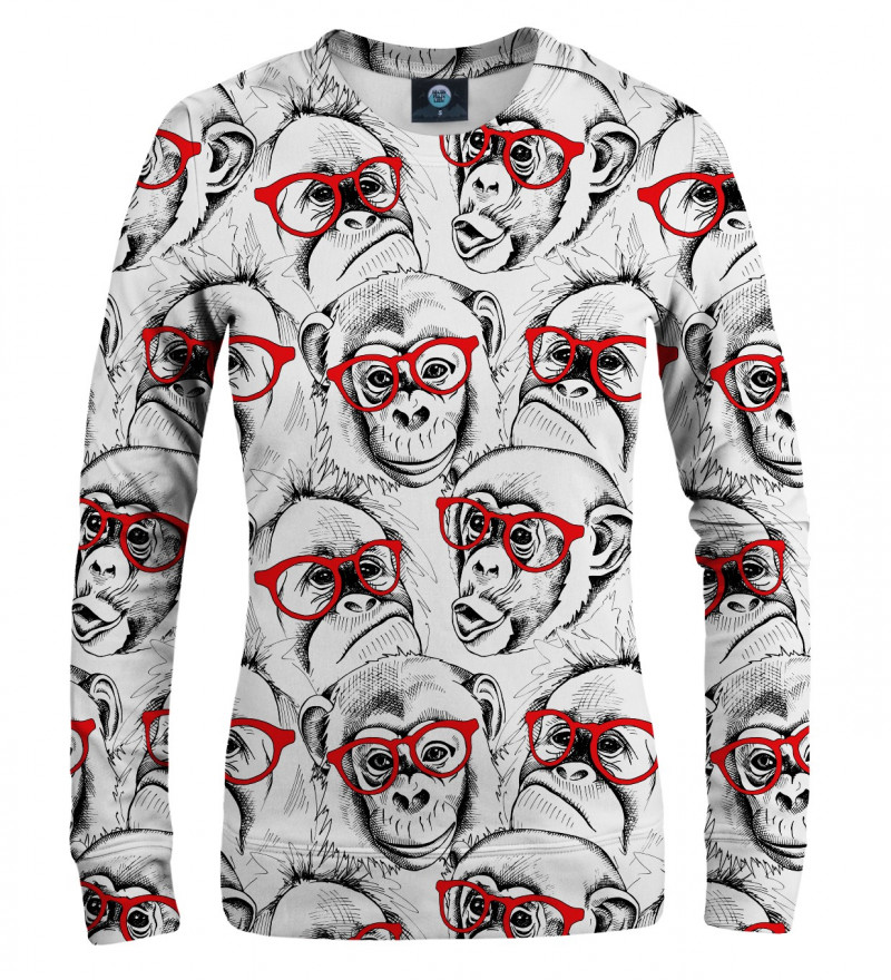 sweatshirt with monkeys motive