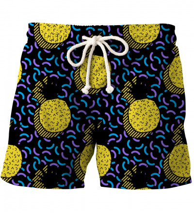 shorts with ananas motive