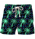 shorts with palm trees motive