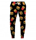 sweatpants with fast food motive