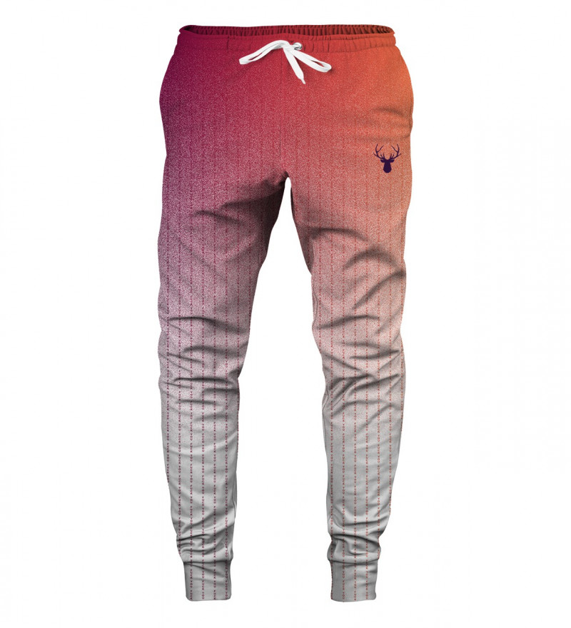 sweatpants with fk you inscription