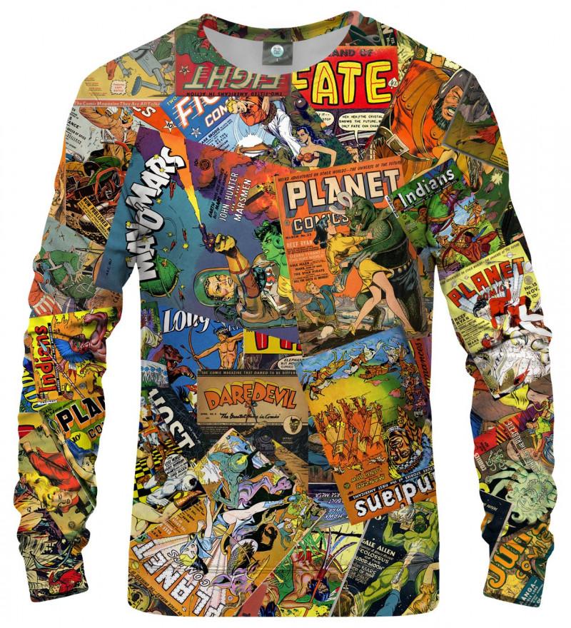 sweatshirt with comics motive