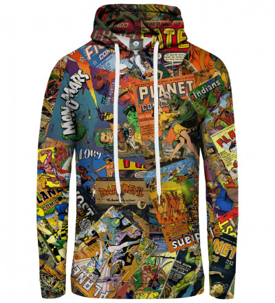 hoodie with comics motive