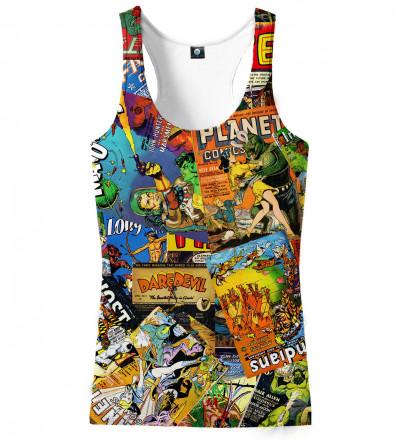 tank top with comics motive