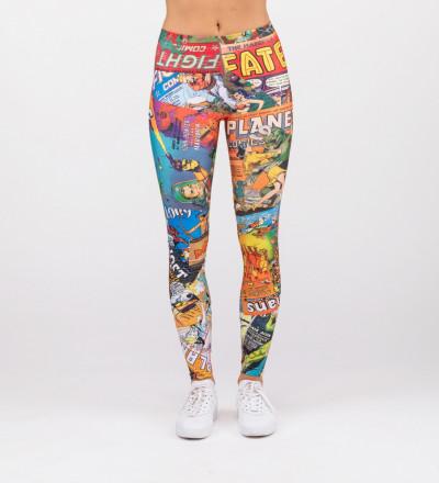 leggings with comics motive